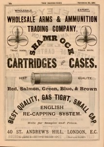 Wholesale Arms and Ammunition ad in The Ironmonger