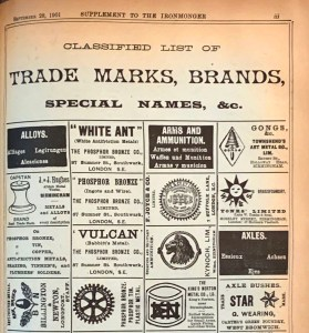 Arms and Ammunition Trademarks in The Ironmonger