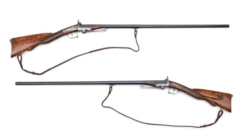 Casimir Lefaucheux's first pinfire shotgun