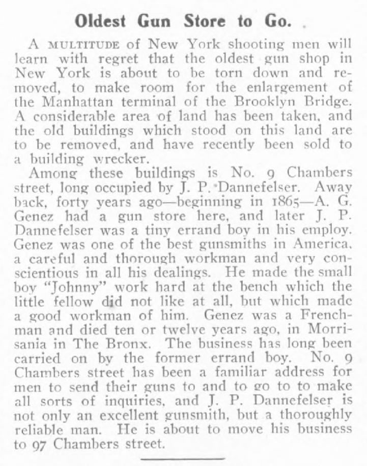 Oldest Gun Store to Go, J. P. Dannefelser 1907 ad