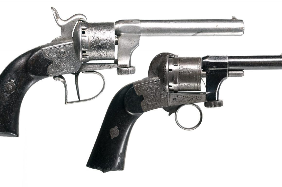Mariette Patent 7mm Pinfire Revolvers