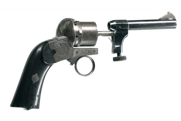 Mariette Patent Double-Action-Only Pinfire Revolver