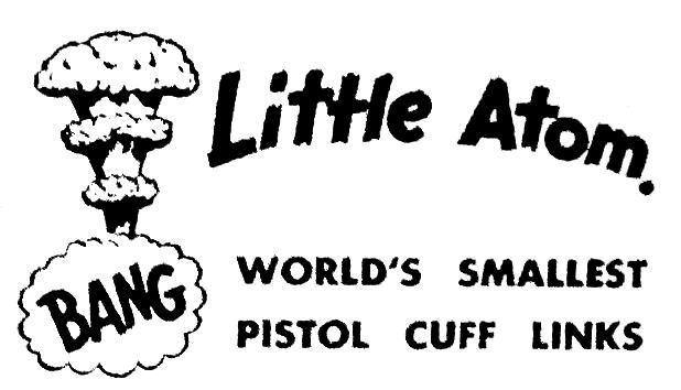 Little Atom. World's Smallest Pistol Cuff Links