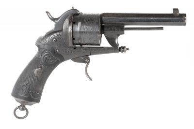 French 12mm Pinfire Revolver by Chamelot & Delvigne