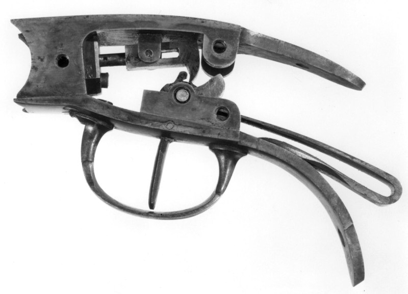 Percussion Hammer Mechanism from French Pauly/Roux pistol; from The Royal Armouries