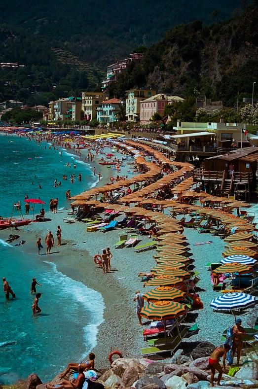 """Beach Umbrellas - """"First beach""""."""