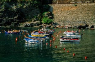 The skiffs of Vernazza.
