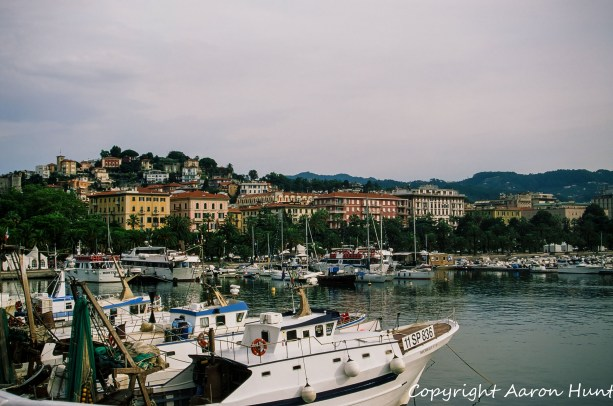 Looking back at La Spezia from the harbor.