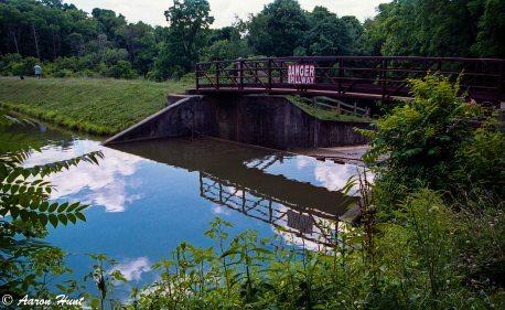Bridge above the spillway