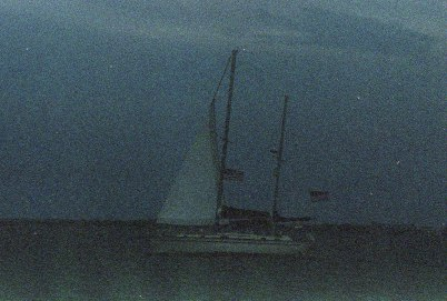 A nearby Sailboat