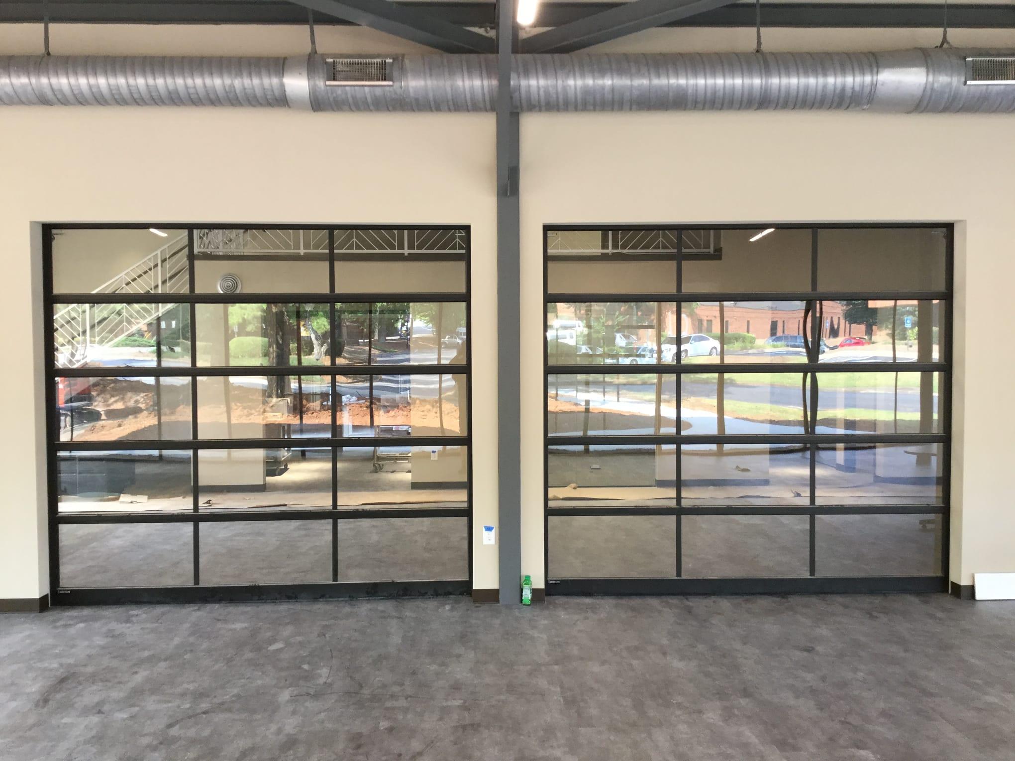 glass garage doors modern garage