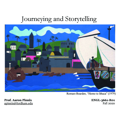 """Fall 2020 Courses: """"Journeying and Storytelling"""" and """"Food & Food Horror"""""""