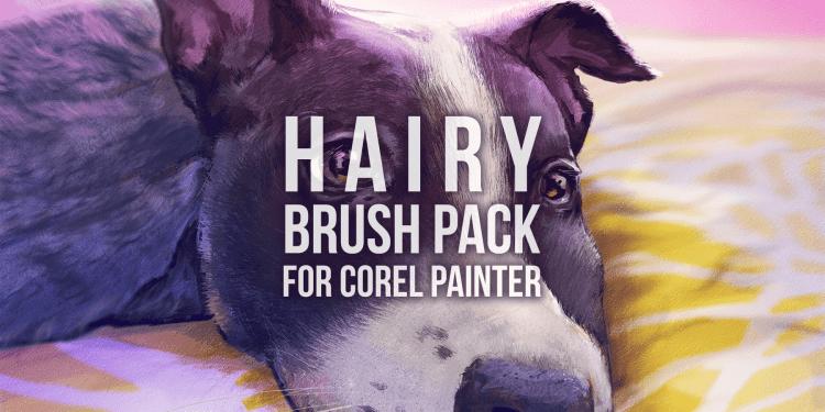 hairy brush pack for corel painter