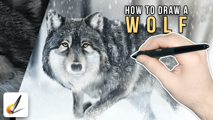 how to draw a wolf with corel painter