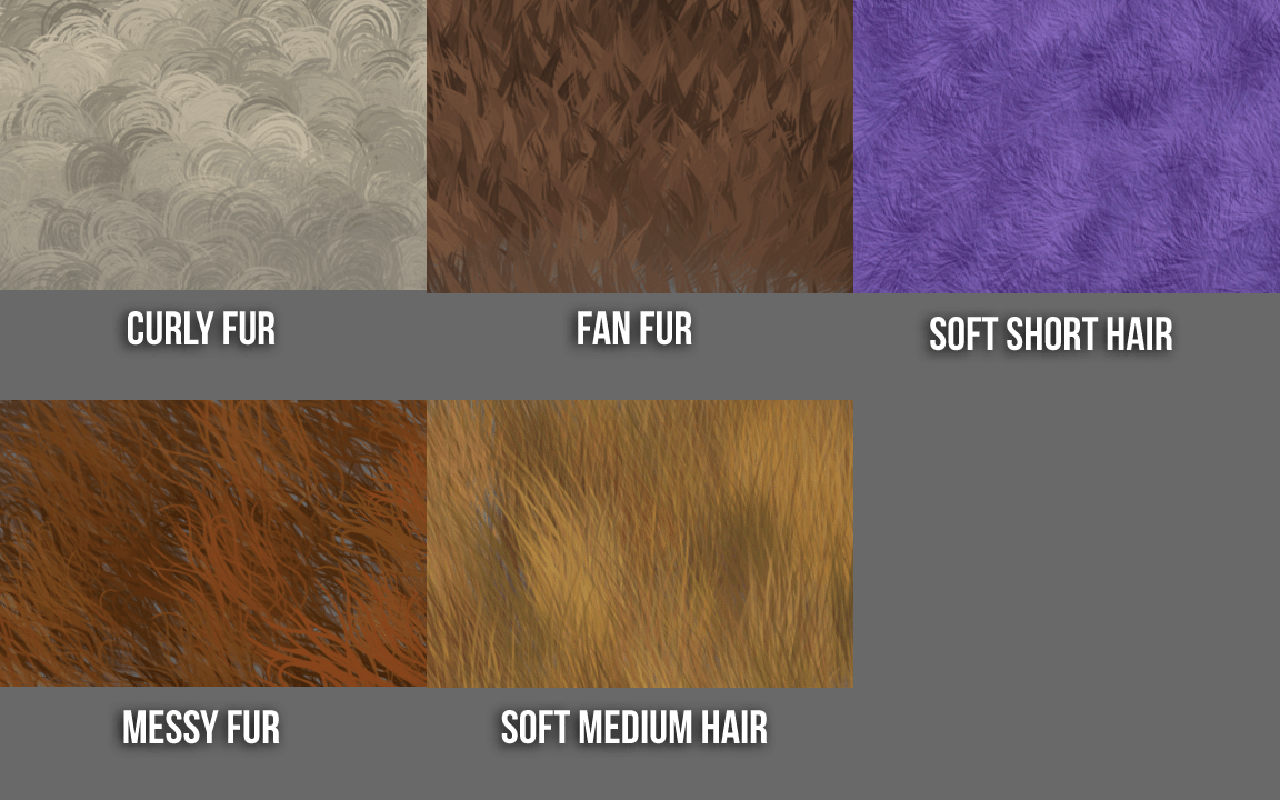 custom fur brushes for photoshop - preview 1
