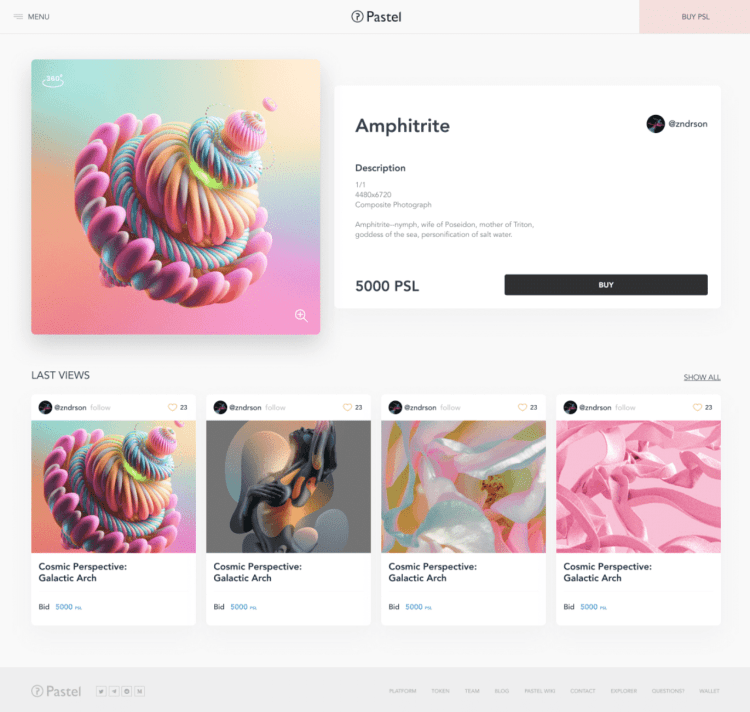 buying a digital art nft on the pastel network