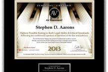 Stephen D Aarons 2013 AV Preeminent