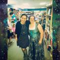 Sam with author Sarah Mylnowski