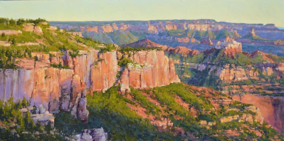 """""""Vista Encantada Morning"""" 18x36. Pastel."""
