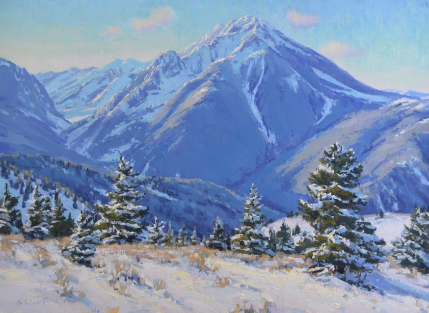 """The North Face of Emigrant Peak"" 20x27, oil. Available at Legacy Gallery, Bozeman."