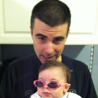 writer aaron sommers with daughter #1