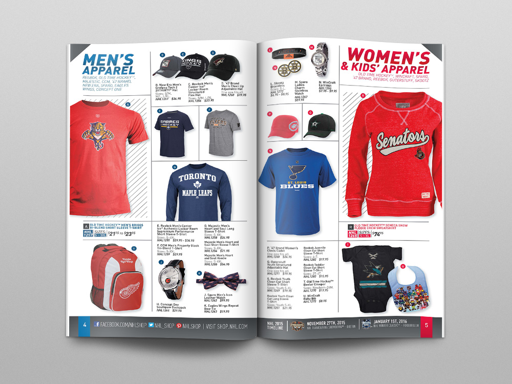 Shop.NHL.com Fall 2015 Catalog – Pages 05/06