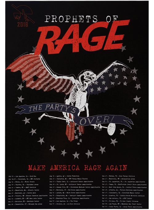 Prophets of Rage – 2016 Tour Poster