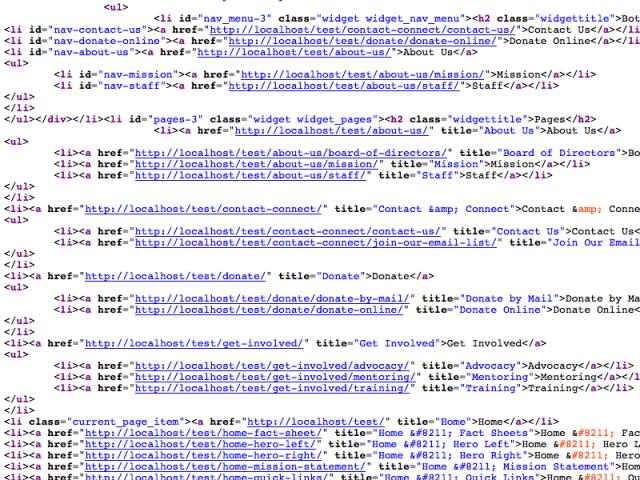 WP Navigaton Menu code, after Navigation Menu IDs & Classes plug-in