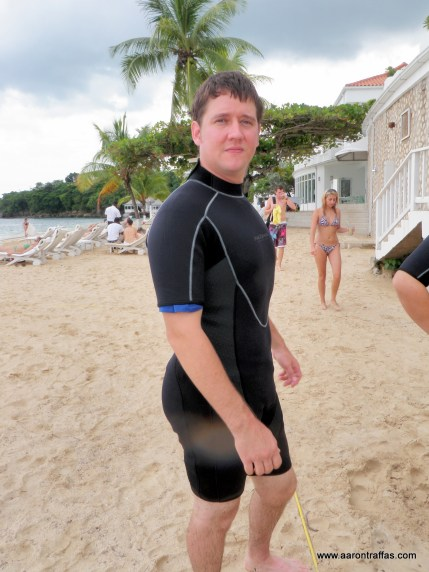 Aaron Traffas in a wet suit