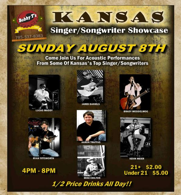 Country Kansas Singer Songwriter Showcase