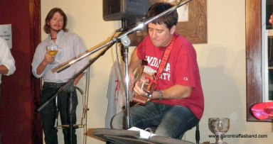 Josh Jacobs and Aaron Traffas at Buster's in Sun City, Kansa