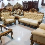 Fully Carved Wooden Sofa Set Living Room Carved Furniture Yt 104