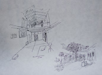 Baba's 2-minute sketches of the house