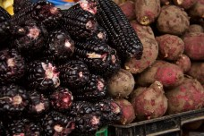 Black corn and red potato