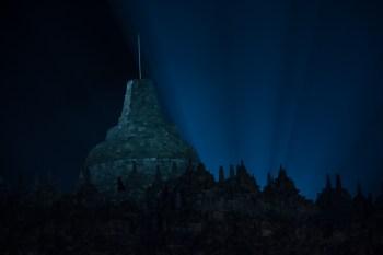 Borobudur by night
