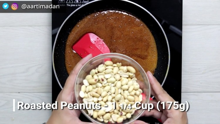 PeanutChikki - Step8 - Add peanuts