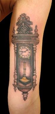 "custom grandfather clock inspired by Edgar Allen Poe's ""Pit & the Pendulum"""