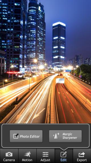 foto bewerken IOS en Android: long expo app