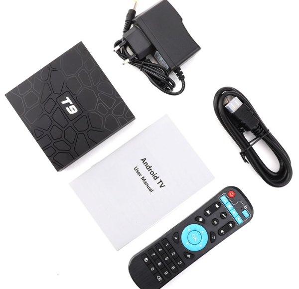Media Player met HDMI-kabel, stroom-adapter en afstandsbediening
