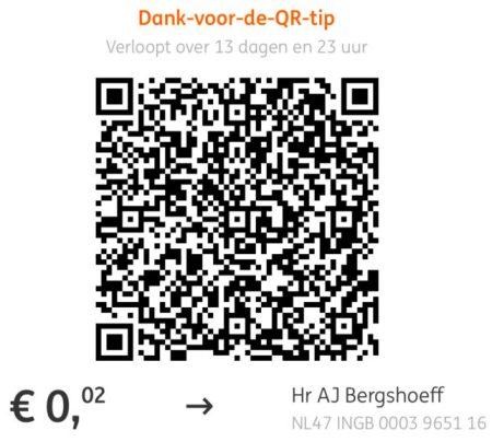 QR code betaalverzoek ING Bankieren App