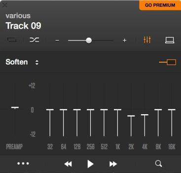 equaliser presets in Vox Player
