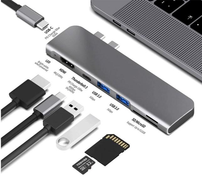 macbook usb-c hub thunderbolt hdmi sd