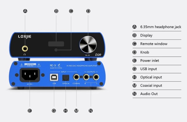 LOXJIE D20 HIFI Digital Audio DAC and Headphone Amplifier Uses DAC Chip AK4497 Support DSD512 PCM 32bit/768kHz