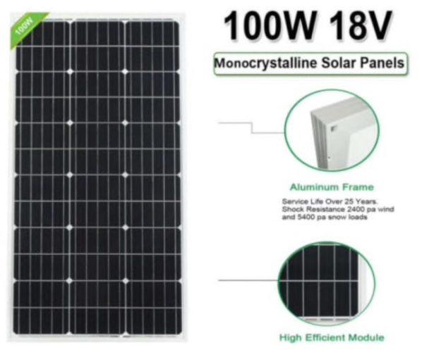 100W zonnepaneel