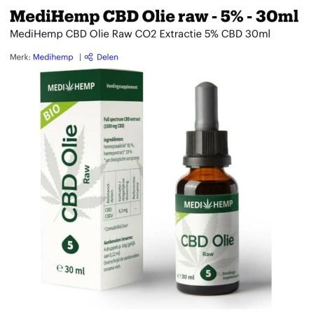 beste CB olie raw Medihemp
