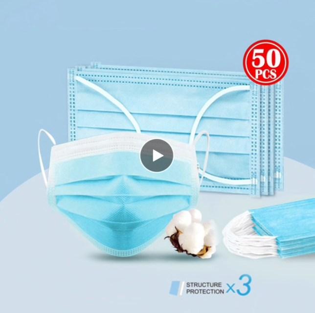 N95 mondkapje wegwerp