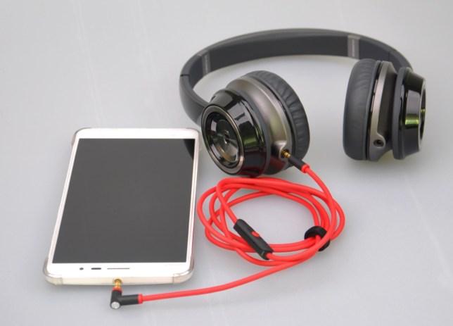 koptelefoonkabel audiokabel met inline microfoon