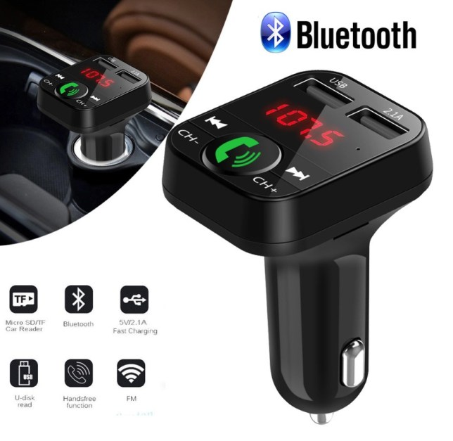 Car Bluetooth FM Transmitter Wireless Handsfree Audio Receiver Auto LED MP3 Player 2.1A Dual USB Fast Charger Car Accessories