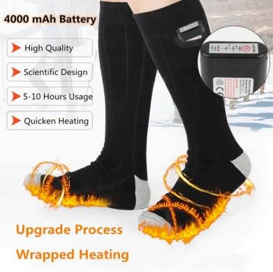 sokken met elektrische verwarming