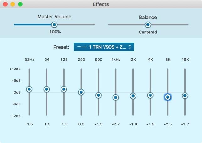 TRN V90s EQ + KZ ZAX EQ
